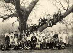 Black and White Class Picture